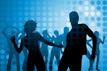Disco-dancing-figures-in-silhouette-vector-material_15-2887