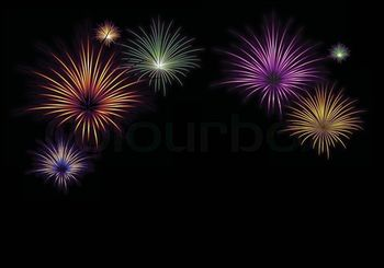 Seven -colorful-fireworks-seven-exposions-xmas-celebration